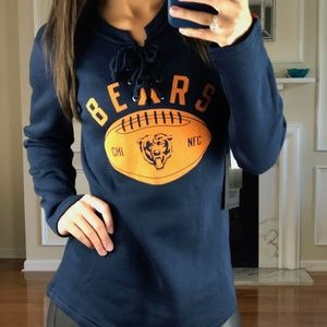 Chicago Bears NFL Lace Up Jersey Style Sweater S